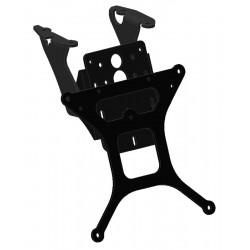 ADJUSTABLE ALUMINUM LICENSE PLATE SUPPORT FOR KAWASAKI ZX-10R 2006/2007