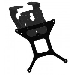 ADJUSTABLE ALUMINUM LICENSE PLATE HOLDER FOR KAWASAKI ZX-6R 600 2007/2008 (FOR SIDE EXHAUST)