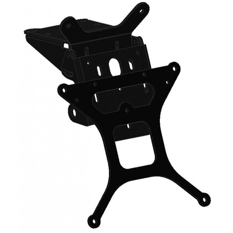ADJUSTABLE ALUMINUM LICENSE PLATE SUPPORT FOR YAMAHA MT-01 2005/2013