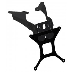 ADJUSTABLE ALUMINUM LICENSE PLATE SUPPORT FOR YAMAHA T-MAX 2008/2011, T-MAX 530 2012/2016