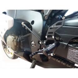 PEDANE ARRETRATE REGOLABILI 4 RACING PER HONDA CBR 1000 RR 2008/2016 (CAMBIO STANDARD E ROVESCIATO)