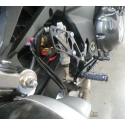 PEDANE ARRETRATE REGOLABILI 4-RACING PER KAWASAKI Z 1000 2007/2009, Z 750/R 2007/2012 (cambio standard e rovesciato)