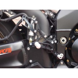 ADJUSTABLE REAR SETS 4-RACING FOR KAWASAKI ZX-10R 2006/2010 (standard and reverse shifting)