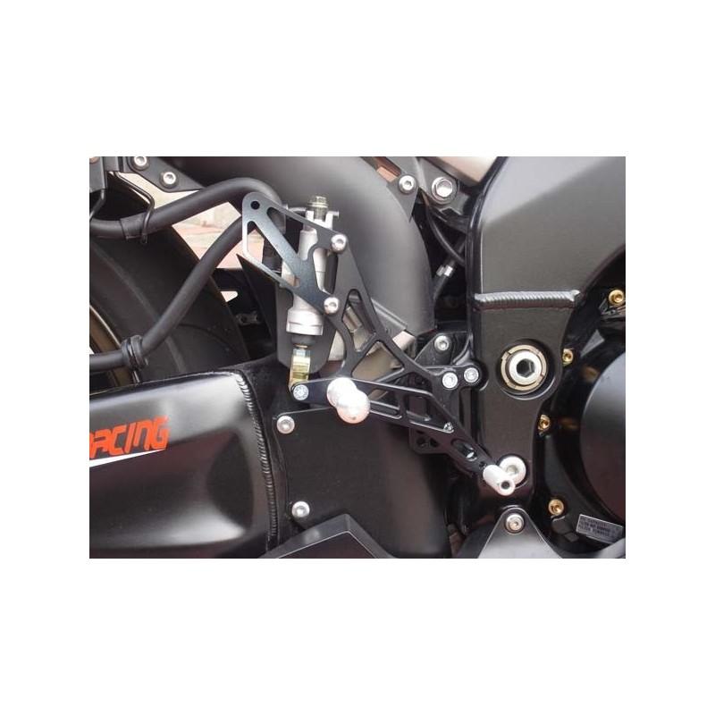 PEDANE ARRETRATE REGOLABILI 4-RACING PER KAWASAKI ZX-10R 2006/2010 (cambio standard e rovesciato)