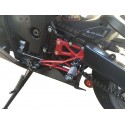 ADJUSTABLE REAR SETS 4-RACING FOR KAWASAKI ZX-6R 2005/2008 (standard and reverse shifting)