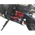 PEDANE ARRETRATE REGOLABILI 4 RACING PER KAWASAKI ZX-6R 2005/2008 (cambio standard e rovesciato)