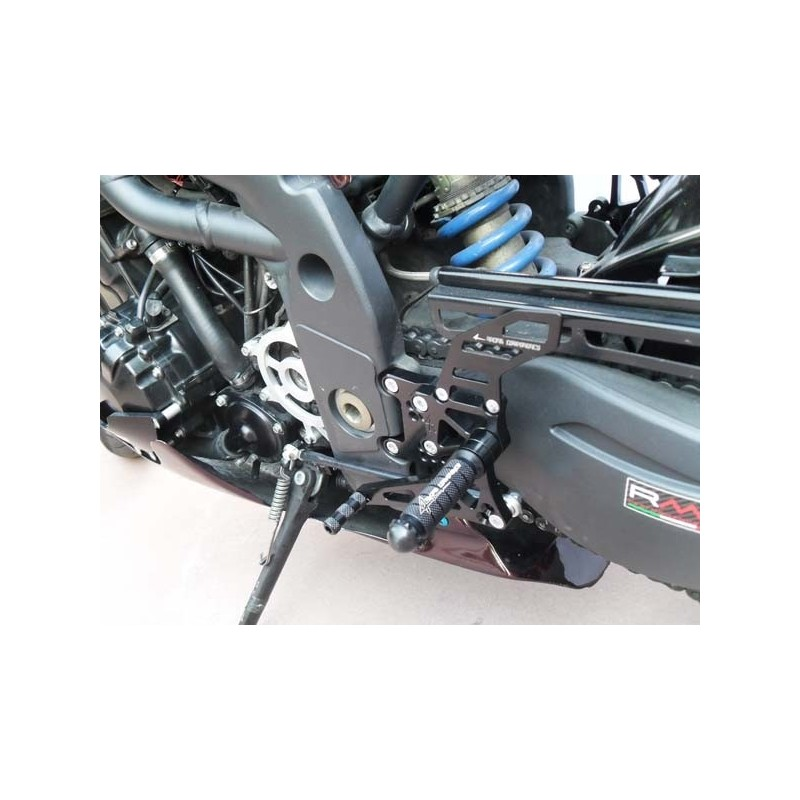 ADJUSTABLE REAR SETS 4-RACING FOR TRIUMPH SPEED TRIPLE 1050 2005/2010 (standard and reverse shifting)
