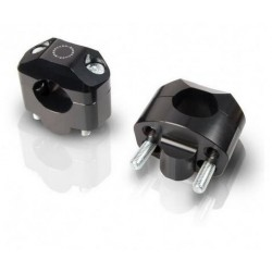 PAIR OF SPECIAL RISER BARRACUDA HANDLEBAR FOR VARIABLE SECTION HANDLEBARS WITH DIAM. 28 mm