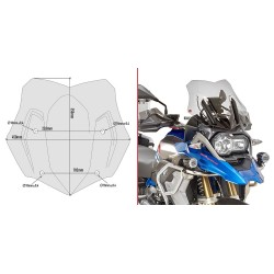 SPORT GIVI WINDSHIELD FOR BMW R 1200 GS 2016/2018 *, SMOKED