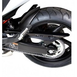BARRACUDA REAR FENDER IN BLACK ABS WITH CHAIN GUARD FOR HONDA CBR 600 F 2011/2013