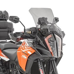 WINDSHIELD GIVI FOR KTM 1290 SUPER ADVENTURE R/S 2017/2020, SMOKED