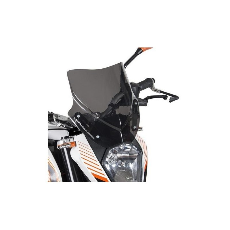 CUPOLINO AEROSPORT BARRACUDA PER KTM 390 DUKE 2014/2016, FUME' SCURO