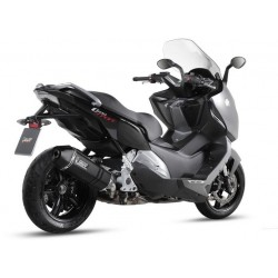 EXHAUST MIVV SPEED EDGE BLACK IN STAINLESS STEEL CARBON BASE FOR BMW C 600 SPORT 2012/2015, APPROVED