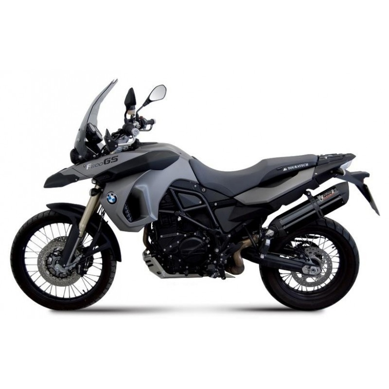 EXHAUST MIVV SOUND BLACK IN STAINLESS STEEL FOR BMW F 800 GS 2008/2017, APPROVED
