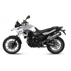 EXHAUST MIVV OVAL TITANIUM WITH CARBON BASE FOR BMW F 700 GS 2013/2017, APPROVED