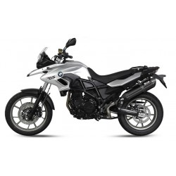 EXHAUST MIVV SOUND BLACK IN STAINLESS STEEL FOR BMW F 700 GS 2013/2018, APPROVED