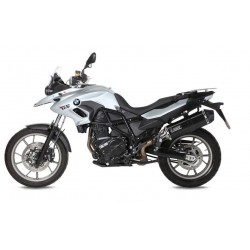 EXHAUST MIVV SPEED EDGE BLACK IN STAINLESS STEEL FOR BMW F 700 GS 2013/2017, APPROVED