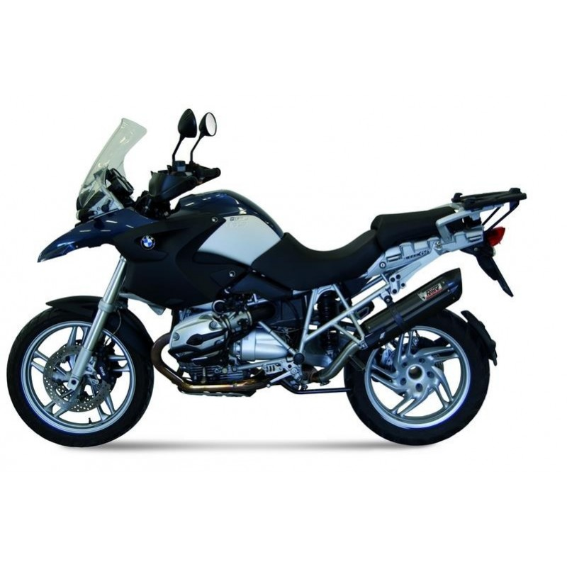 EXHAUST MIVV SOUND BLACK IN STAINLESS STEEL FOR BMW R 1200 GS 2004/2007, APPROVED