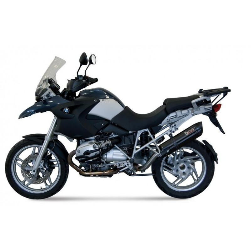 EXHAUST MIVV SOUND BLACK IN STAINLESS STEEL FOR BMW R 1200 GS 2008/2009, APPROVED
