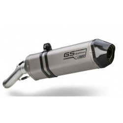 MIVV SPEED EDGE EXHAUST PIPE IN TITANIUM WITH CARBON CUP FOR BMW R 1200 GS 2008/2009, APPROVED