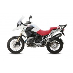 EXHAUST MIVV SPEED EDGE BLACK IN STAINLESS STEEL WITH CARBON BASE FOR BMW R 1200 GS 2010/2012, APPROVED