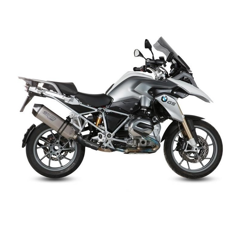 MIVV SPEED EDGE EXHAUST TERMINAL IN TITANIUM WITH CARBON CUP FOR BMW R 1200 GS 2013/2018, APPROVED