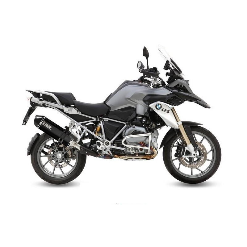 MIVV SPEED EDGE BLACK EXHAUST TERMINAL IN STAINLESS STEEL WITH CARBON BASE FOR BMW R 1200 GS 2013/2018, APPROVED