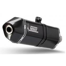 TERMINALE DI SCARICO MIVV SPEED EDGE BLACK IN ACCIAIO INOX CON FONDELLO IN CARBONIO PER BMW R 1200 GS 2013/2018, OMOLOGATO
