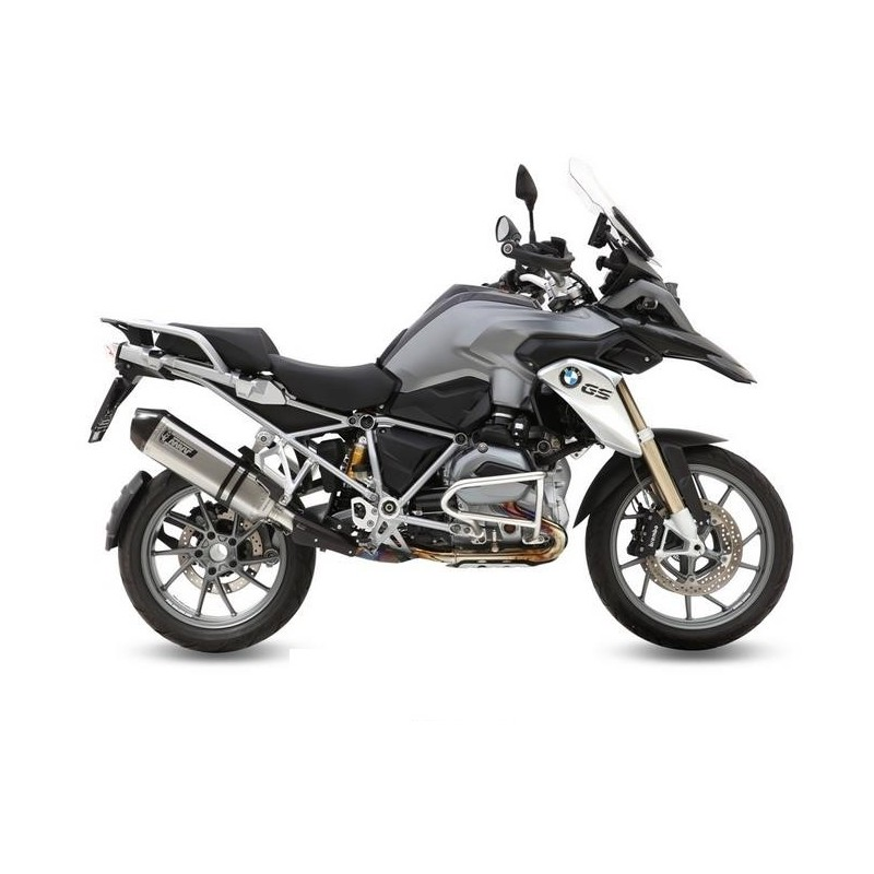 MIVV SPEED EDGE EXHAUST TERMINAL IN STAINLESS STEEL WITH CARBON BASE FOR BMW R 1200 GS ADVENTURE 2013/2018*, APPROVED