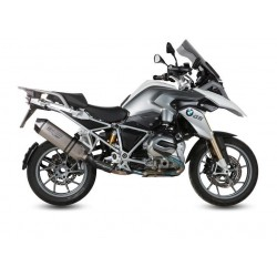 MIVV SPEED EDGE EXHAUST TERMINAL IN TITANIUM WITH CARBON CUP FOR BMW R 1200 GS ADVENTURE 2014/2018, APPROVED