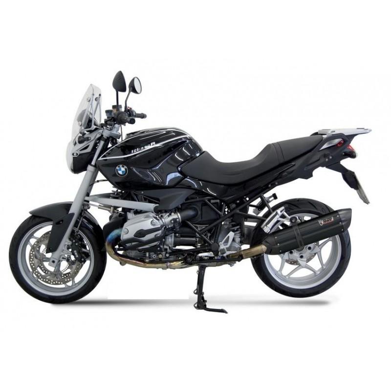 TERMINALE DI SCARICO MIVV SUONO BLACK IN ACCIAIO INOX PER BMW R 1200 R 2005/2010, OMOLOGATO