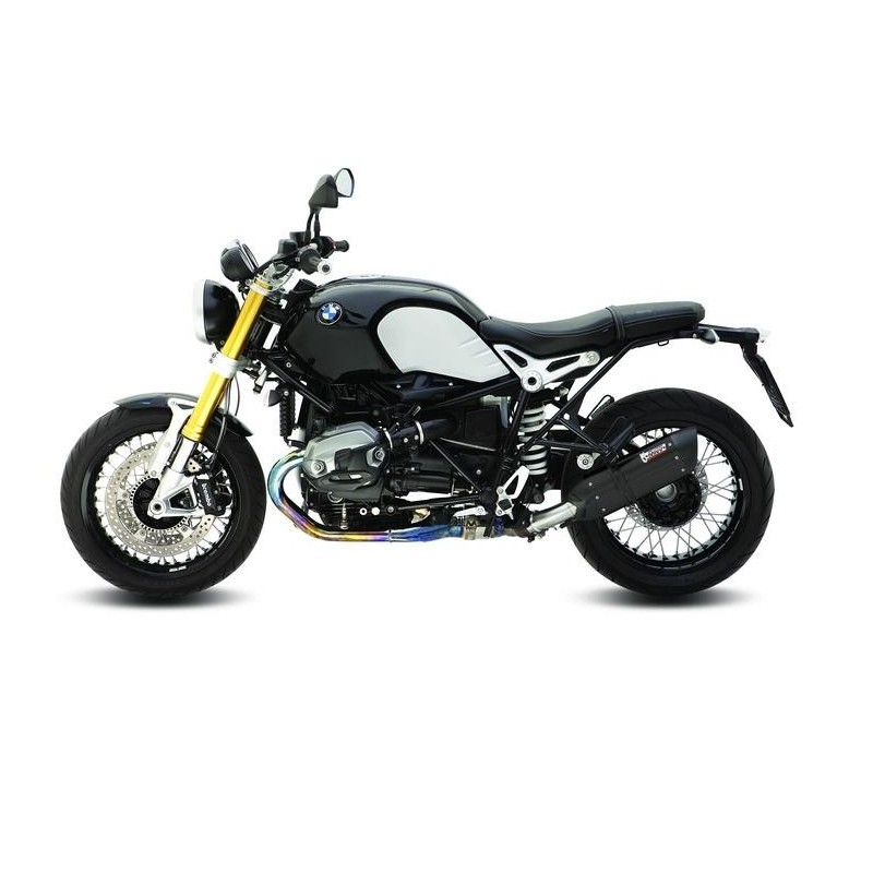 EXHAUST MIVV SOUND BLACK IN STAINLESS STEEL FOR BMW R NINE T 2014/2020, APPROVED