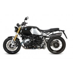 EXHAUST MIVV SOUND BLACK IN STAINLESS STEEL HIGH PASSAGE FOR BMW R NINE T 2014/2020, APPROVED
