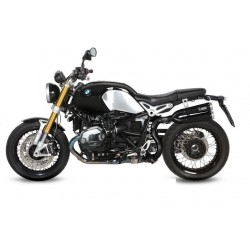 EXHAUST MIVV X-CONE BLACK IN STAINLESS STEEL HIGH PASSAGE FOR BMW R NINE T 2014/2020, APPROVED