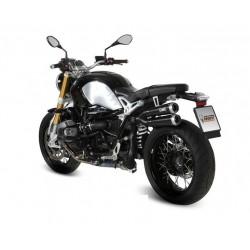 TERMINALE DI SCARICO MIVV X-CONE BLACK IN ACCIAIO INOX PASSAGGIO ALTO PER BMW R NINE T 2014/2020, OMOLOGATO