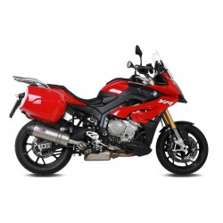 EXHAUST MIVV OVAL TITANIUM WITH CARBON BASE FOR BMW S 1000 XR 2015/2019, APPROVED