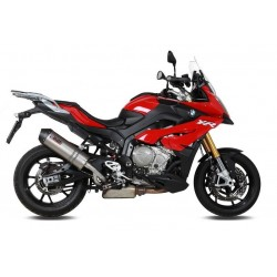 EXHAUST MIVV OVAL TITANIUM WITH CARBON BASE HIGH PASSAGE FOR BMW S 1000 XR 2015/2019, APPROVED