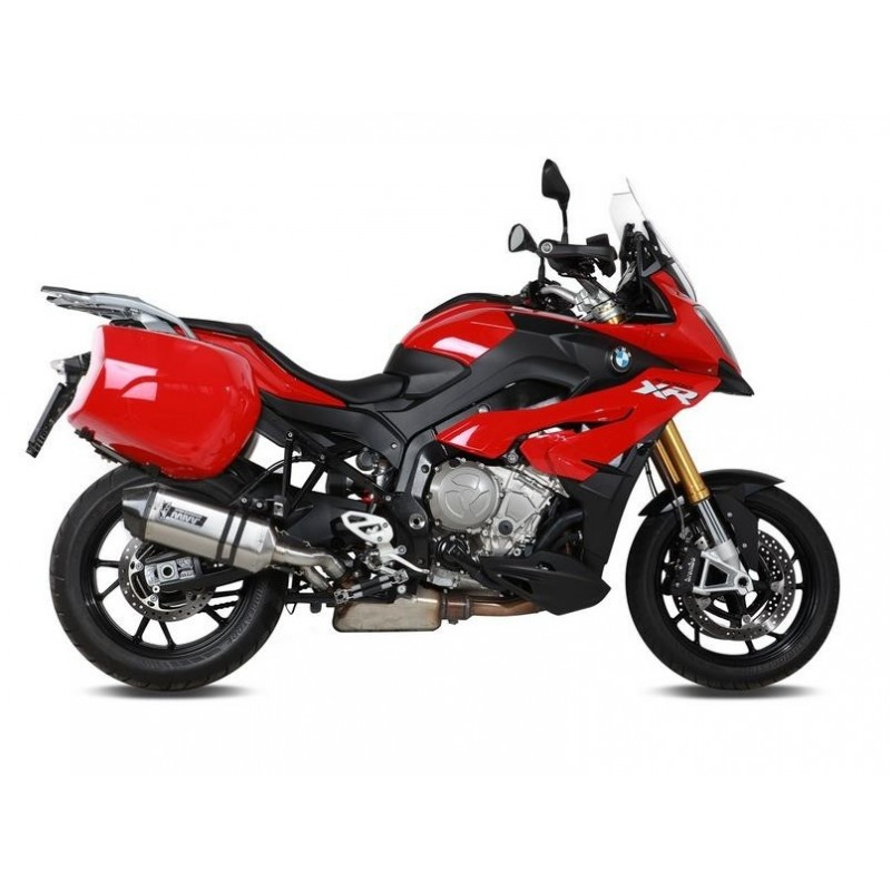 MIVV SPEED EDGE EXHAUST TERMINAL IN STAINLESS STEEL WITH CARBON BOTTOM HIGH PASSAGE FOR BMW S 1000 XR 2015/2019, OMOL.