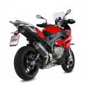 MIVV SPEED EDGE BLACK EXHAUST TERMINAL IN STAINLESS STEEL WITH CARBON BOTTOM HIGH PASSAGE FOR BMW S 1000 XR 2015/2019