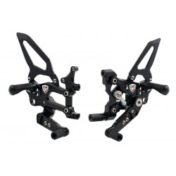 ADJUSTABLE FOOTRESTS CNC RACING MOD. EASY REVERSE CONTROL FOR DUCATI 1299 PANIGALE 2015/2017