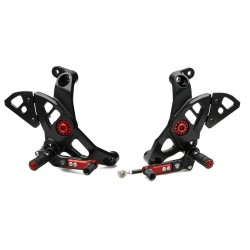 ADJUSTABLE REAR SETS CNC RACING FOR DUCATI MONSTER 1200 2017/2020