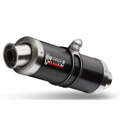 TERMINAL PAIR OF EXHAUST MIVV GP BLACK WITH HIGH PASSAGE FOR DUCATS MONSTER 695 2006/2007, APPROVED