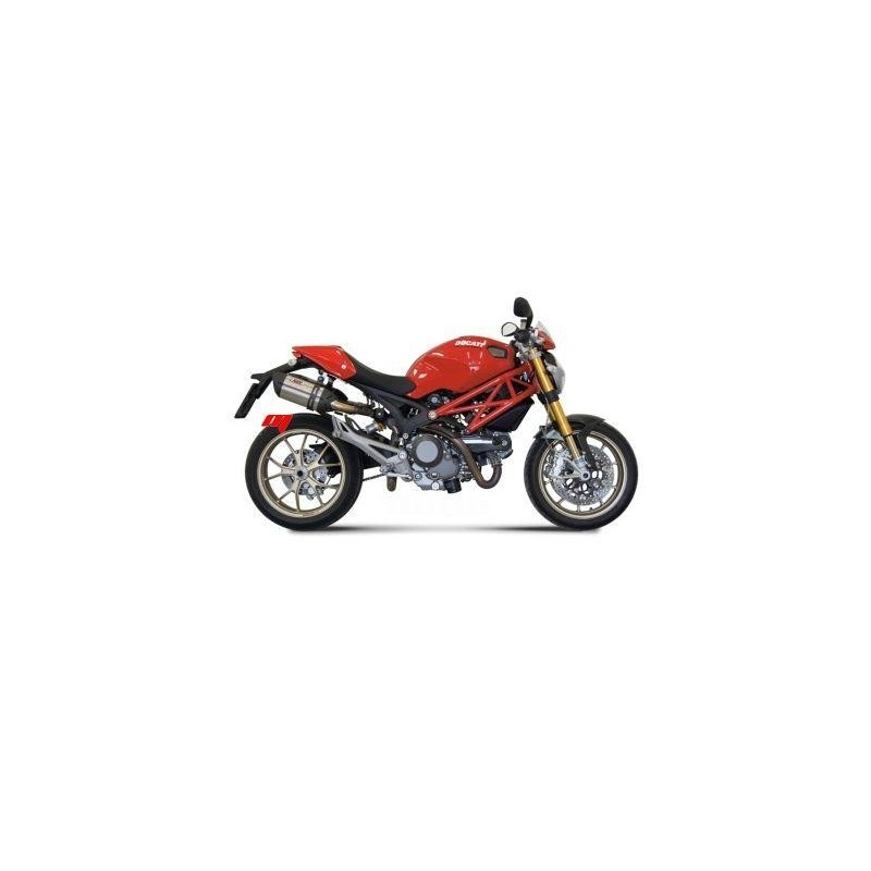 TERMINAL PAIR OF EXHAUST MIVV STAINLESS STEEL SOUND FOR DUCATS MONSTER 796 2010/2013, APPROVED