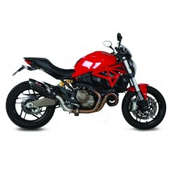 EXHAUST MIVV SOUND BLACK IN STAINLESS STEEL FOR DUCATI MONSTER 821 2014/2017, APPROVED