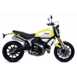 PAIR OF EXHAUST SYSTEMS ARROW PRO-RACE IN STEEL FOR DUCATI SCRAMBLER 1100 2018/2019, APPROVED