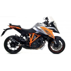 ARROW RACE TECH DARK ALUMINUM DARK EXHAUST PIPE WITH CARBON CUP FOR KTM 1290 SUPER DUKE GT 2016/2020, APPROVED