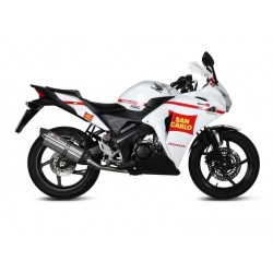 COMPLETE EXHAUST SYSTEM MIVV SOUND IN STAINLESS STEEL CARBON CUP FOR HONDA CBR 125 R 2011/2018