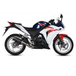 MIVV GP BLACK EXHAUST TERMINAL FOR HONDA CBR 250 R 2011/2013, APPROVED
