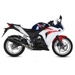 EXHAUST TERMINAL MIVV SUONO BLACK FOR HONDA CBR 250 R 2011/2013, APPROVED