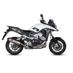 EXHAUST MIVV OVAL TITANIUM WITH CARBON BASE FOR HONDA CROSSRUNNER 800 2015/2020, APPROVED